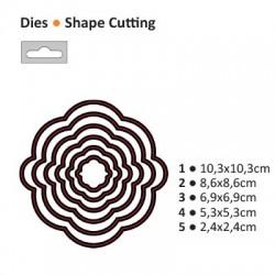 Щанца за рязане и релеф кръг - Darice - Die cut stencil circle 103x103mm