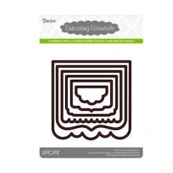 Шаблони за рязане и релеф рамка / таг / етикет - Darice - Die cut stencil book page cutting knife middle 104x104mm