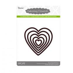 Шаблон за рязане и релеф сърце - Darice - Die cut stencil heart cutting knife middle 88x88mm