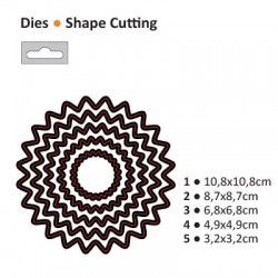 Щанца за изрязване и релеф слънце - Darice - Die cut stencil scallop circle sun 108x108mm