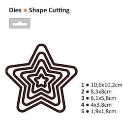 Щанца за изрязване и релеф звезда - Darice - Die cut stencil star 106x102mm