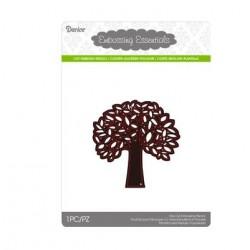 Щанца за изрязване и релеф дърво с листа - Darice - Die cut stencil leafing tree 79x79mm