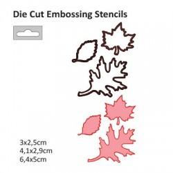 Щанца за изрязване и релеф листа - Darice - Die cut stencil leaves 64x50mm + 41x29mm + 30x25mm