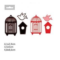 Щанца за изрязване и релеф къщички за птици - Darice - Die cut stencil birdhouses 52x90mm + 41x55mm + 45x34mm