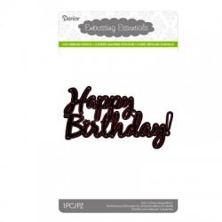 Шаблон за рязане и релеф Честит рожден ден - Darice - Die cut stencil happy birthday