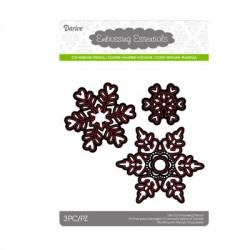 Шаблон за рязане и релеф снежинки - Darice - Die cut stencil snowflakes - 3бр.