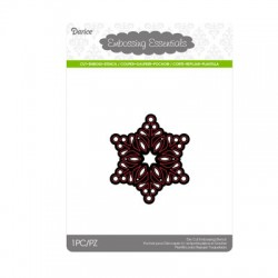 Шаблон за рязане и релеф малка снежинка - Darice - Die cut stencil snowflake small