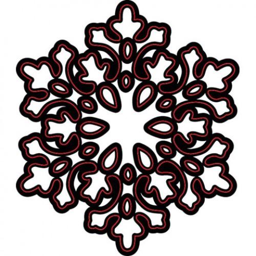 Шаблон за рязане и релеф голяма снежинка - Darice - Die cut stencil snowflake large