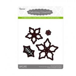 Шаблон за рязане и релеф Коледна звезда - Darice - Die cut stencil pointsettia