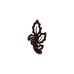 Шаблон за рязане и релеф малко коледно цвете - Darice - Die cut stencil holly small