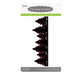 Шаблон за рязане и релеф бордюр от елхи - Darice - Die cut stencil evergreen border