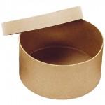 Кръгла крафт кутия ([цилиндрична) - D - 20см, H - 10см