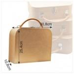 Куфар от папие маше за декориране - 30.8 х 25.4 х 10.80 см