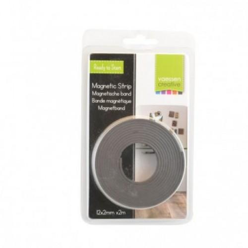 Магнитна лента - Magneet strip 12mm x 2mm x 2m - самозалепваща от едната страна