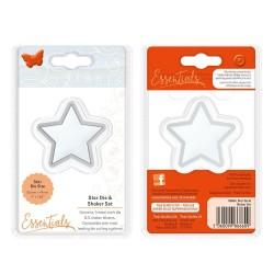 Щанца и 5бр. прозрачни плаки за 3D шейкър картички - звезда - TONIC ESSENTIALS DIE & SHAKER SET, STAR