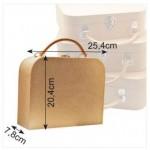 Куфар от папие маше за декориране - 25.4 х 20.4 х 7.80 см