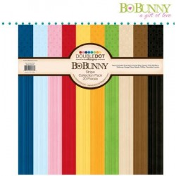 Дизайнерско блокче  с хартии - Bo Bunny double dot 30,5x30,5cm x20 collection pack stripes