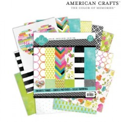 "Дизайнерски листи 6"" х 6"" - American crafts - Paper pads favorite things x36"