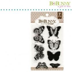 Комплект от силиконови печати пеперуди - Bo Bunny clear stamp 10x15,3cm flutter