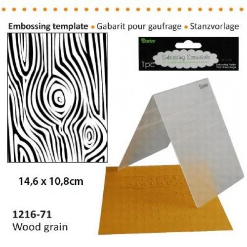Ембосинг папка - имитация на дърво - Darice - Embossing template 10,8x14,6cm wood grain