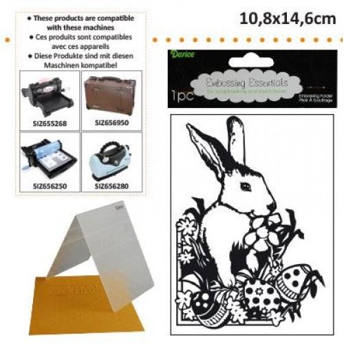 Ембосинг папка - Великдетски заек - Darice - Embossing template 10,8x14,6cm easter bunny