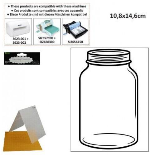 Ембосинг папка - буркан - Darice - Embossing template 10,8x14,6cm mason jar
