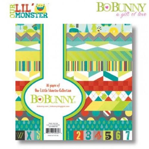 "Дизайнерско блокче 6"" х 6"" - Bo Bunny Our Lil'Monster 15,2x15,2cm paper pad"