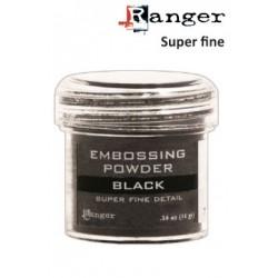 Детайлна черна ембосинг пудра -  Ranger - Embossing poeder 28g super fine detail black