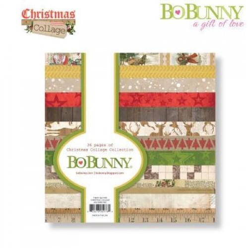 "Дизайнерско блокче 6"" х 6"" - Bo Bunny christmas collage 15,2x15,2cm paper pad"