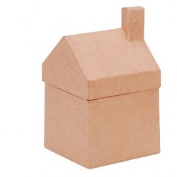 Къщичка за декориране от папие маше - Paper mache doos huis