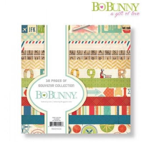 """Дизайнерско блокче 6"""" х 6"""" - Bo Bunny souvenir 15,2x15,2cm paper pad"""
