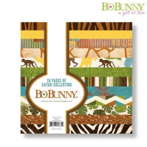 "Дизайнерско блокче 6"" х 6"" - Bo Bunny safari 15,2x15,2cm paper pad"