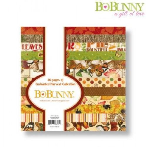 "Дизайнерско блокче 6"" х 6"" - Bo Bunny enchanted harvest paper pad 15,2x15,2cm"