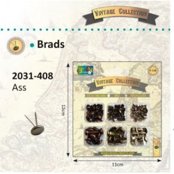 Комплект винтидж брадс - 138 бр. -  Vintage brads x138 ass.
