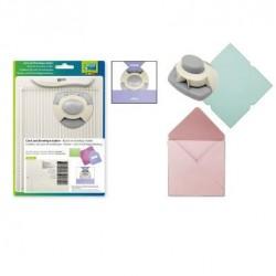 Дъска за биговане / прегъване А5 в комплект с пънч за заобляне - Card + envelope maker kit with punch
