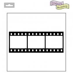 """Шаблон за микс медиа и декупаж филмова лента - Template 4x4"""" 10x10cm film strip fragments"""