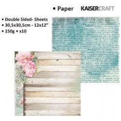 "Двустранен дизайнерски картон 12"" х 12"" писания и цветя - Kaiser craft oh so lovely double-sided 12x12"" woman"