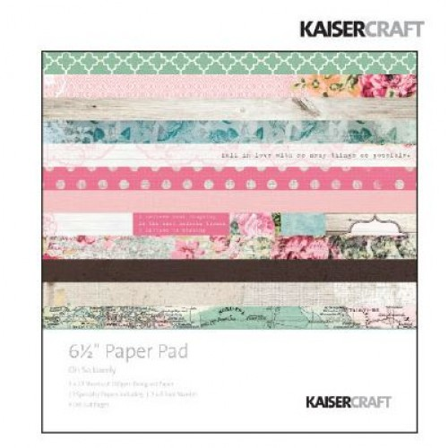 "Дизайнерско блокче 6.5"" х 6.5"" - Kaiser craft oh so lovely paper pad 6,5x6,5"""