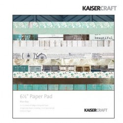 "Дизайнерско блокче 6.5"" х 6.5"" - Kaiser craft blue bay paper pad 6,5x6,5"""
