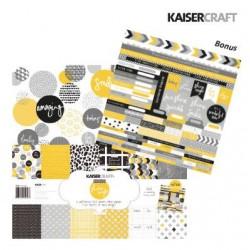 "Дизайнерски листи 12""х12"" и стикери - Kaiser craft shine bright paper pack 12x12"""