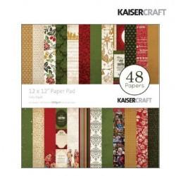 """Дизайнерско блокче 12"""" х 12"""" - Kaiser craft Holy night paper pad 12x12"""""""
