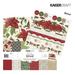 "Комплект от дизайнерски хартии 12"" х 12"" и стикери - Kaiser craft Home for christmas paper pack 12x12"""