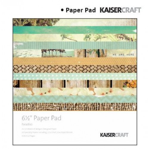 """Дизайнерско блокче - Kaiser craft paradiso paper pad 6,5x6,5"""""""