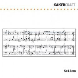 Силиконов печат петолиния / ноти - Kaiser craft - clear stamp 5x13cm sheet music