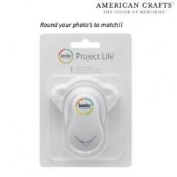 Перфоратон за заобляне на ъгли - ъглов пънч - American crafts - Project life corner rounder