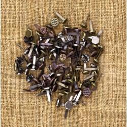 Мини брадс - Prima Marketing - Mechanicals brads - Vintage Mechanicals - Mini Brads - 100бр.