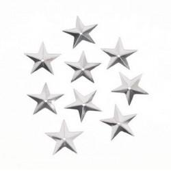 Блестящи бели пайети звездички - 50бр. 14мм - Spangles star 14 mm. 50 pcs. white iris