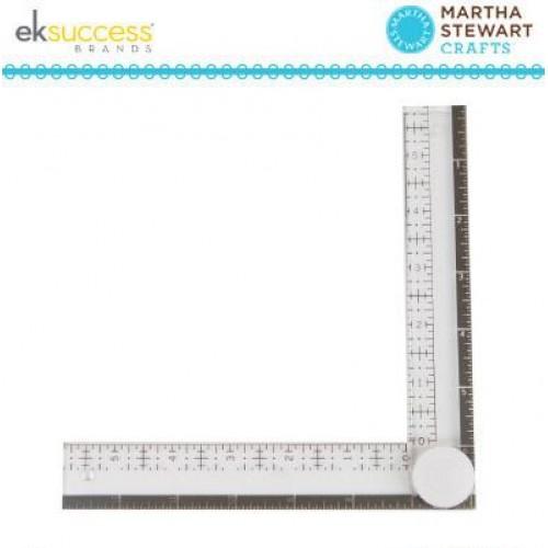 Ъглова линия за прецизно поставяне на печати / за мерене под ъгъл - Martha Stewart folding ruler