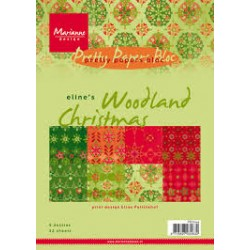 Дизайнерско блокче - Marianne Design pretty papers bloc Eline's woodland xmas