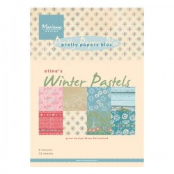 Дизайнерско блокче - Marianne Design pretty papers bloc Eline's winter pastels